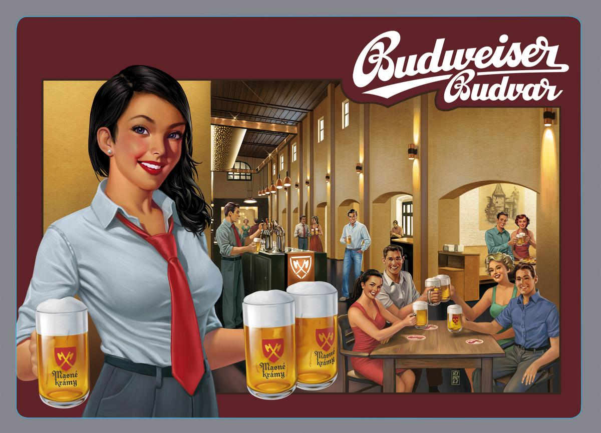 Stefano Riboli - Signs for Budweiser Budvar