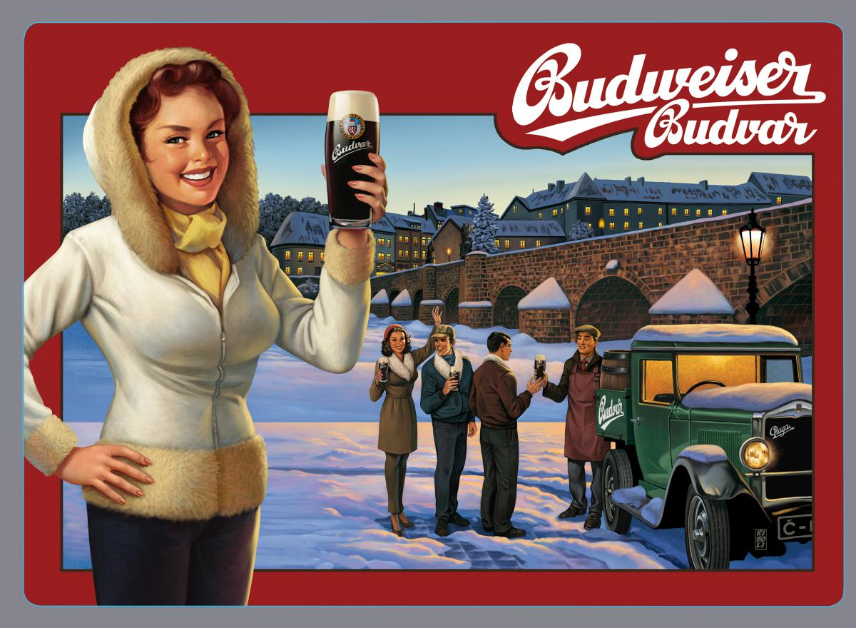 Stefano Riboli - Sign for Budweiser Budvar